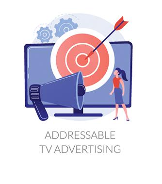 Addressable TV Advertising icon