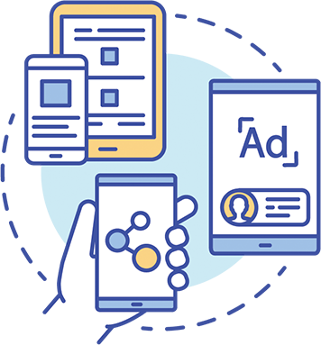 Email IP Display Ads cycle icon